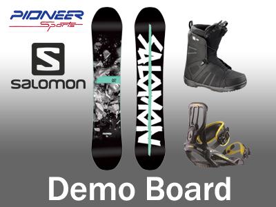 Demo snowboard rental package