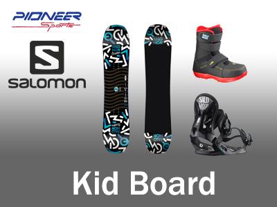Kids snowboard rental package