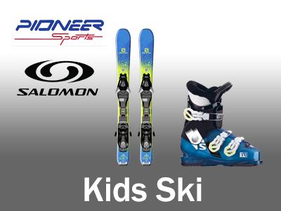 Kids, youth, junior ski rental package
